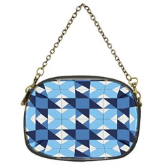 Radiating Star Repeat Blue Chain Purses (two Sides)