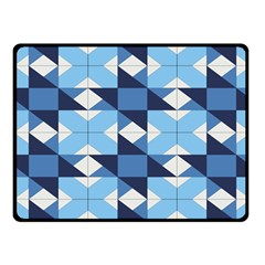 Radiating Star Repeat Blue Fleece Blanket (small) by Alisyart