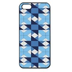 Radiating Star Repeat Blue Apple Iphone 5 Seamless Case (black)