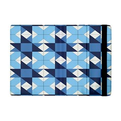 Radiating Star Repeat Blue Apple Ipad Mini Flip Case