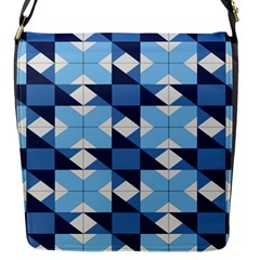 Radiating Star Repeat Blue Flap Messenger Bag (s) by Alisyart