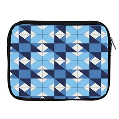 Radiating Star Repeat Blue Apple Ipad 2/3/4 Zipper Cases