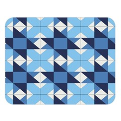 Radiating Star Repeat Blue Double Sided Flano Blanket (large)