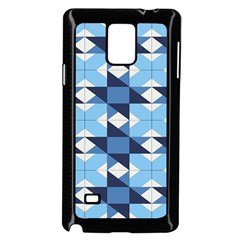 Radiating Star Repeat Blue Samsung Galaxy Note 4 Case (black) by Alisyart