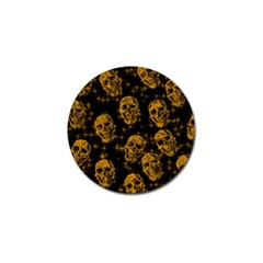 Sparkling Glitter Skulls Golden Golf Ball Marker (10 Pack) by ImpressiveMoments