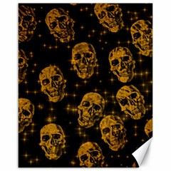 Sparkling Glitter Skulls Golden Canvas 16  X 20   by ImpressiveMoments