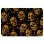 Sparkling Glitter Skulls Golden Large Doormat  30 x20  Door Mat