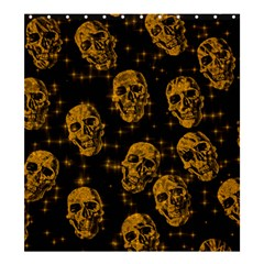 Sparkling Glitter Skulls Golden Shower Curtain 66  X 72  (large)  by ImpressiveMoments