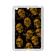 Sparkling Glitter Skulls Golden Ipad Mini 2 Enamel Coated Cases by ImpressiveMoments