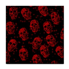 Sparkling Glitter Skulls Red Tile Coasters by ImpressiveMoments