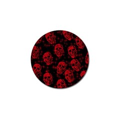 Sparkling Glitter Skulls Red Golf Ball Marker by ImpressiveMoments
