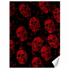 Sparkling Glitter Skulls Red Canvas 36  X 48   by ImpressiveMoments