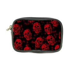 Sparkling Glitter Skulls Red Coin Purse by ImpressiveMoments