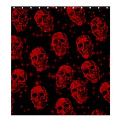 Sparkling Glitter Skulls Red Shower Curtain 66  X 72  (large)  by ImpressiveMoments