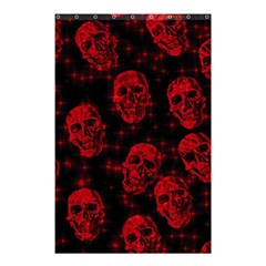 Sparkling Glitter Skulls Red Shower Curtain 48  X 72  (small)  by ImpressiveMoments
