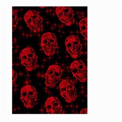 Sparkling Glitter Skulls Red Large Garden Flag (two Sides) by ImpressiveMoments