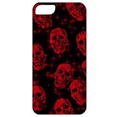 Sparkling Glitter Skulls Red Apple Iphone 5 Classic Hardshell Case by ImpressiveMoments
