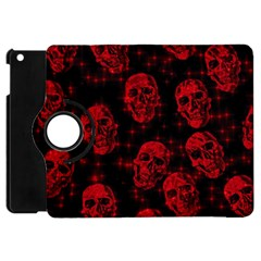 Sparkling Glitter Skulls Red Apple Ipad Mini Flip 360 Case by ImpressiveMoments