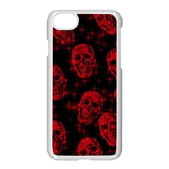 Sparkling Glitter Skulls Red Apple Iphone 7 Seamless Case (white) by ImpressiveMoments