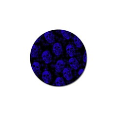 Sparkling Glitter Skulls Blue Golf Ball Marker (10 Pack) by ImpressiveMoments