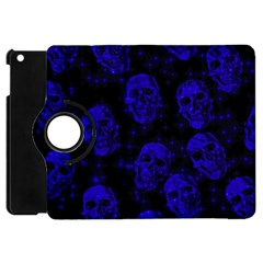 Sparkling Glitter Skulls Blue Apple Ipad Mini Flip 360 Case by ImpressiveMoments
