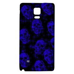 Sparkling Glitter Skulls Blue Galaxy Note 4 Back Case by ImpressiveMoments