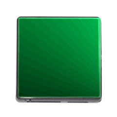 Green Beach Fractal Backdrop Background Memory Card Reader (square) by Simbadda