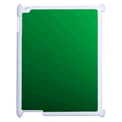 Green Beach Fractal Backdrop Background Apple Ipad 2 Case (white) by Simbadda