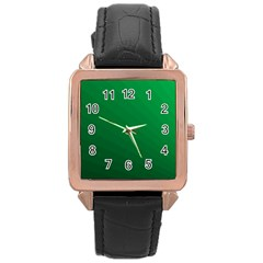 Green Beach Fractal Backdrop Background Rose Gold Leather Watch  by Simbadda