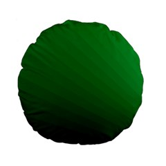 Green Beach Fractal Backdrop Background Standard 15  Premium Flano Round Cushions by Simbadda