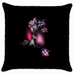 Colour Of Nature Fractal A Nice Fractal Coloured Garden Throw Pillow Case (black) by Simbadda