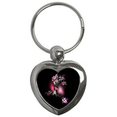 Colour Of Nature Fractal A Nice Fractal Coloured Garden Key Chains (heart)  by Simbadda