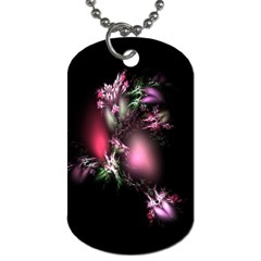 Colour Of Nature Fractal A Nice Fractal Coloured Garden Dog Tag (two Sides) by Simbadda