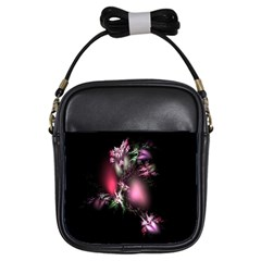 Colour Of Nature Fractal A Nice Fractal Coloured Garden Girls Sling Bags by Simbadda