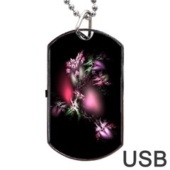 Colour Of Nature Fractal A Nice Fractal Coloured Garden Dog Tag Usb Flash (two Sides) by Simbadda