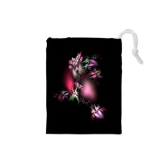 Colour Of Nature Fractal A Nice Fractal Coloured Garden Drawstring Pouches (small)  by Simbadda
