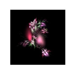 Colour Of Nature Fractal A Nice Fractal Coloured Garden Small Satin Scarf (square) by Simbadda