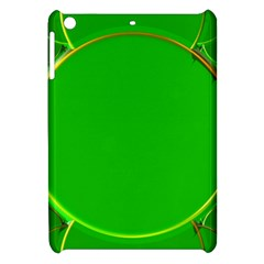 Green Circle Fractal Frame Apple Ipad Mini Hardshell Case by Simbadda