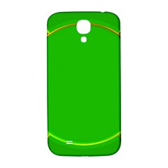 Green Circle Fractal Frame Samsung Galaxy S4 I9500/i9505  Hardshell Back Case by Simbadda