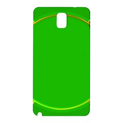 Green Circle Fractal Frame Samsung Galaxy Note 3 N9005 Hardshell Back Case by Simbadda