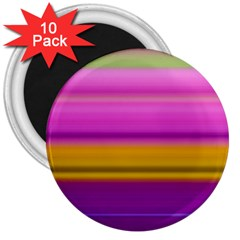 Stripes Colorful Background Colorful Pink Red Purple Green Yellow Striped Wallpaper 3  Magnets (10 Pack)  by Simbadda