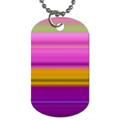 Stripes Colorful Background Colorful Pink Red Purple Green Yellow Striped Wallpaper Dog Tag (one Side) by Simbadda
