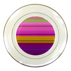 Stripes Colorful Background Colorful Pink Red Purple Green Yellow Striped Wallpaper Porcelain Plates by Simbadda