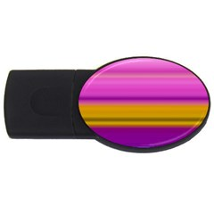 Stripes Colorful Background Colorful Pink Red Purple Green Yellow Striped Wallpaper Usb Flash Drive Oval (4 Gb) by Simbadda