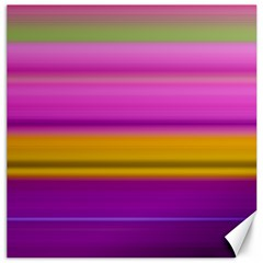 Stripes Colorful Background Colorful Pink Red Purple Green Yellow Striped Wallpaper Canvas 12  X 12