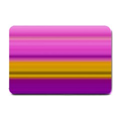 Stripes Colorful Background Colorful Pink Red Purple Green Yellow Striped Wallpaper Small Doormat  by Simbadda