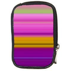 Stripes Colorful Background Colorful Pink Red Purple Green Yellow Striped Wallpaper Compact Camera Cases by Simbadda