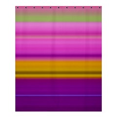 Stripes Colorful Background Colorful Pink Red Purple Green Yellow Striped Wallpaper Shower Curtain 60  X 72  (medium)  by Simbadda