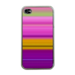 Stripes Colorful Background Colorful Pink Red Purple Green Yellow Striped Wallpaper Apple Iphone 4 Case (clear) by Simbadda