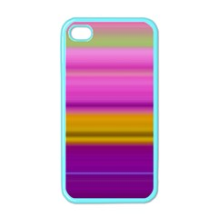 Stripes Colorful Background Colorful Pink Red Purple Green Yellow Striped Wallpaper Apple Iphone 4 Case (color) by Simbadda